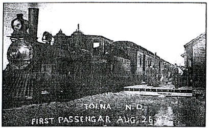 First Passenger Train in Tolna, ND August 26, 1907
